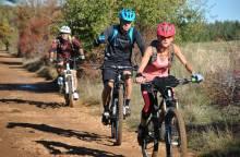 Mountain-biking along the trails in Sault
