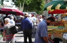 Weekmarkt van Carpentras