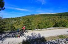 Tour Mont Ventoux on electric mountain bike
