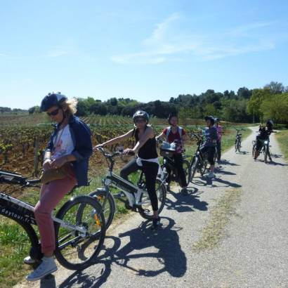 Bike ride into the vineyards of Châteauneuf-du-Pape